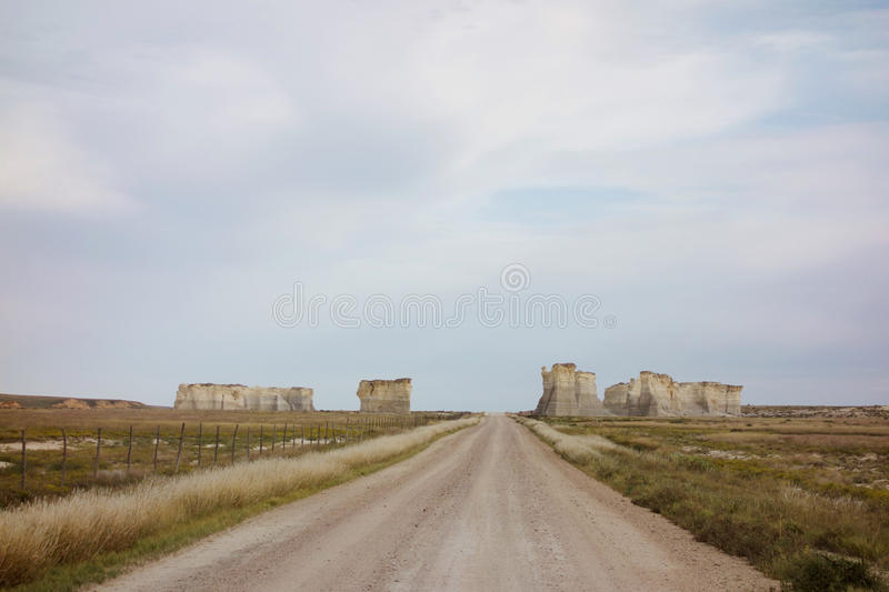 Approaching Monument Rocks stock image
