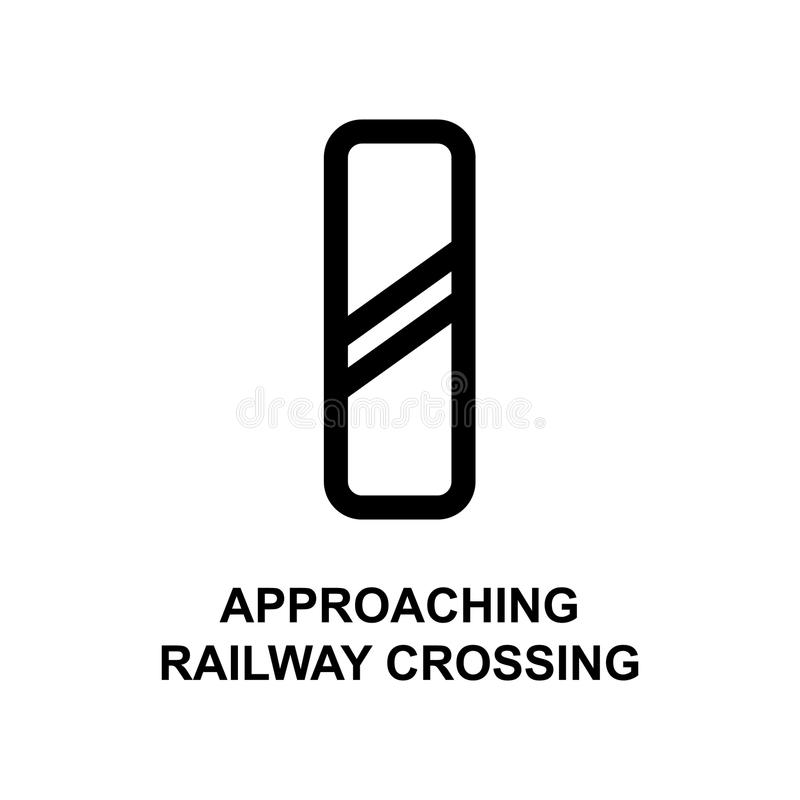 Approaching railway crossing sign icon. Element of railway signs for mobile concept and web apps. Detailed approaching railway cro. Ssing sign can be used for vector illustration