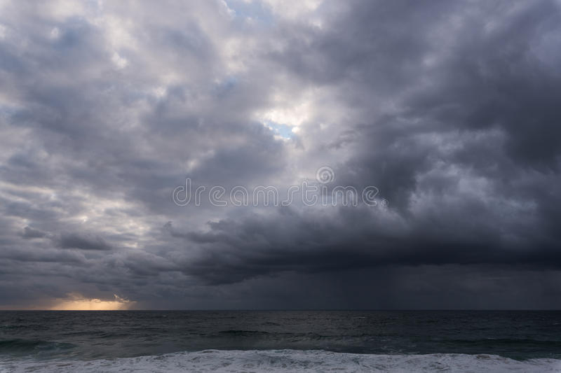 Approaching storm cloud stock images