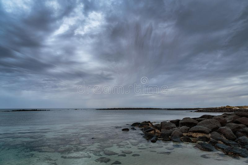 Approaching storm in early morning at Port Fairy, Victoria, Australia, Great Ocean Road, Victoria, Australia royalty free stock photography