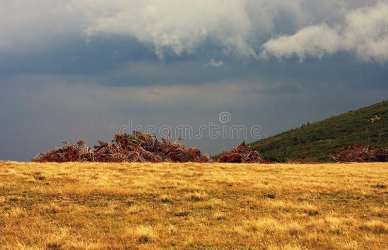 Approaching storm stock images