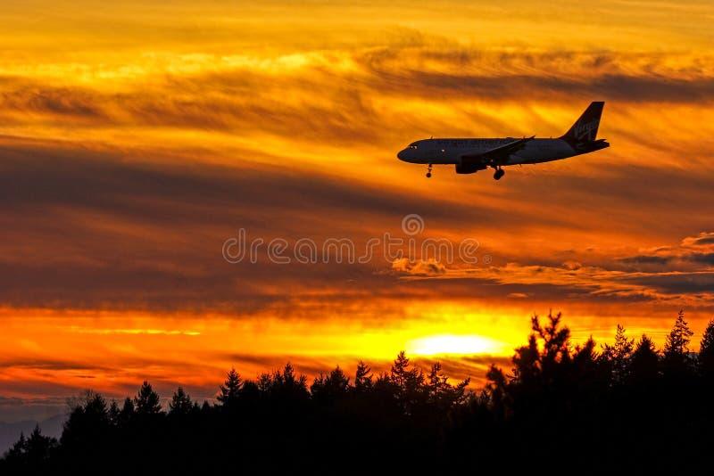 Approche de coucher du soleil photos stock