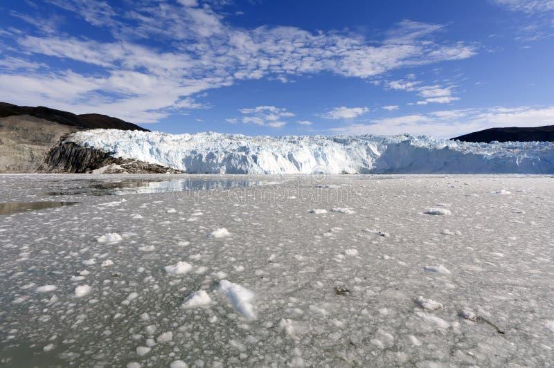 Approche du glacier d'Eqi photo libre de droits