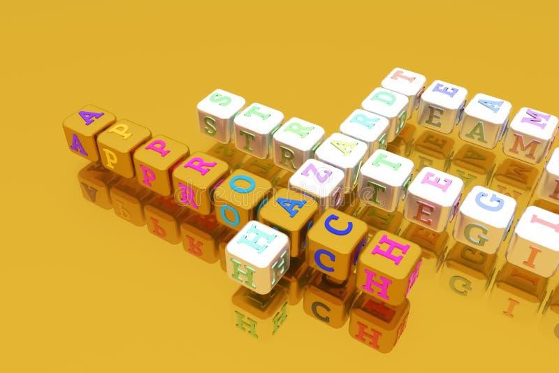 Approche, mots croisé de mot-clé d'affaires Pour la page Web, la conception graphique, la texture ou le fond image stock