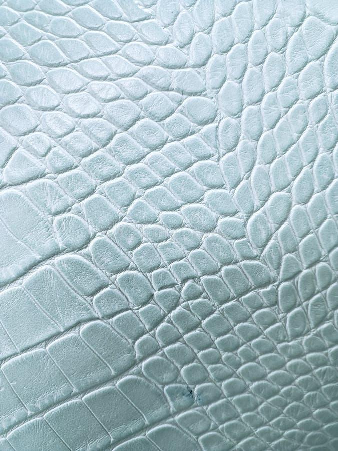 approche pour garnir en cuir la surface à la couleur, à l'arrière-plan et à la texture bleu-clair photos stock