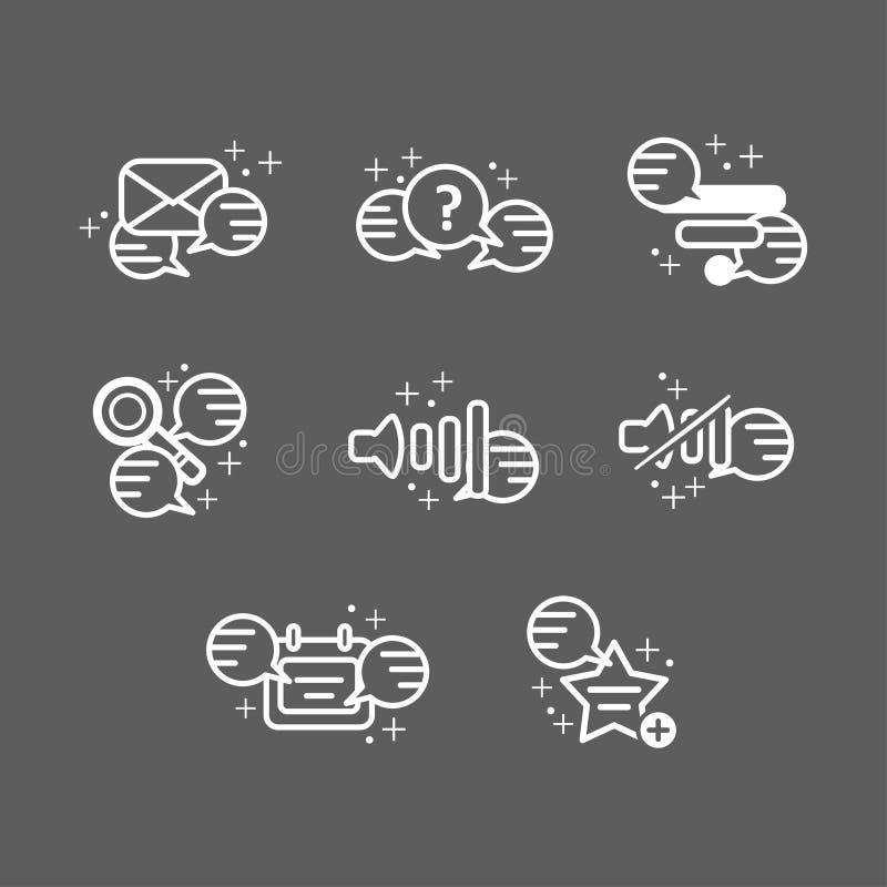 Approprié réglé d'icône d'affaires aux graphiques, aux sites Web et aux médias imprimés d'infos Ligne plate noire et blanche icôn illustration libre de droits
