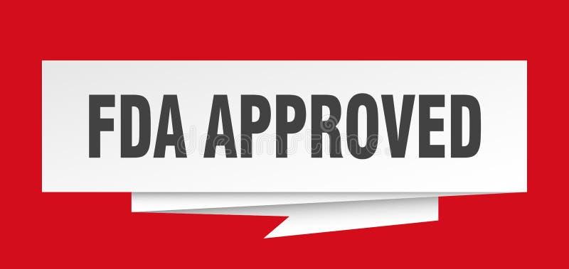 APPROUVÉ PAR LE FDA illustration libre de droits