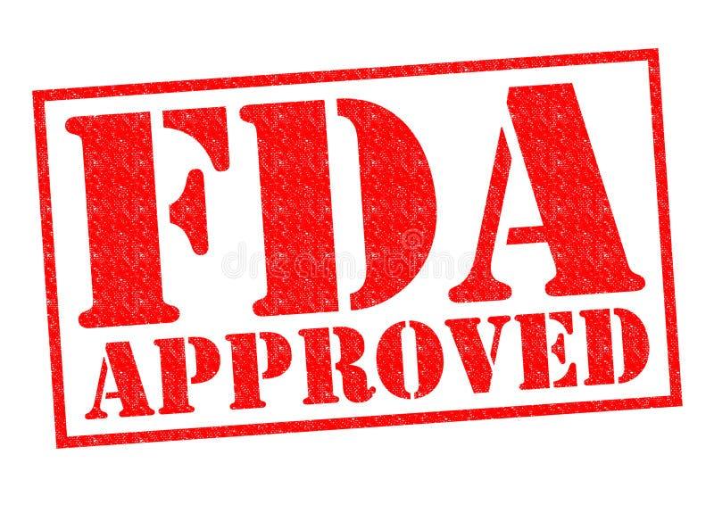 APPROUVÉ PAR LE FDA image libre de droits