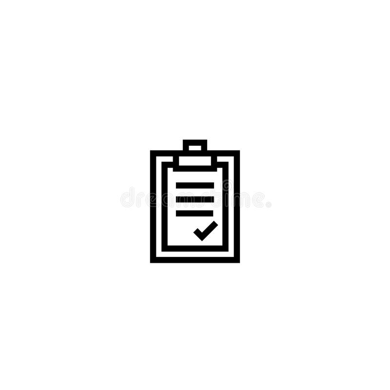 Approval letter. paper board with agreement content symbol. simple clean thin outline style design. royalty free illustration