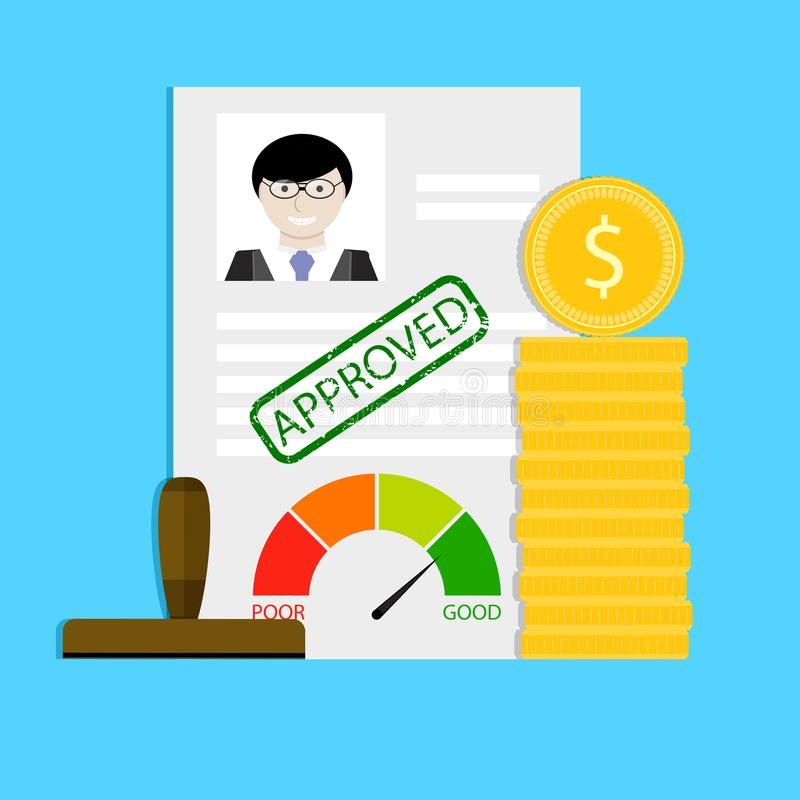 Approval of loan royalty free illustration
