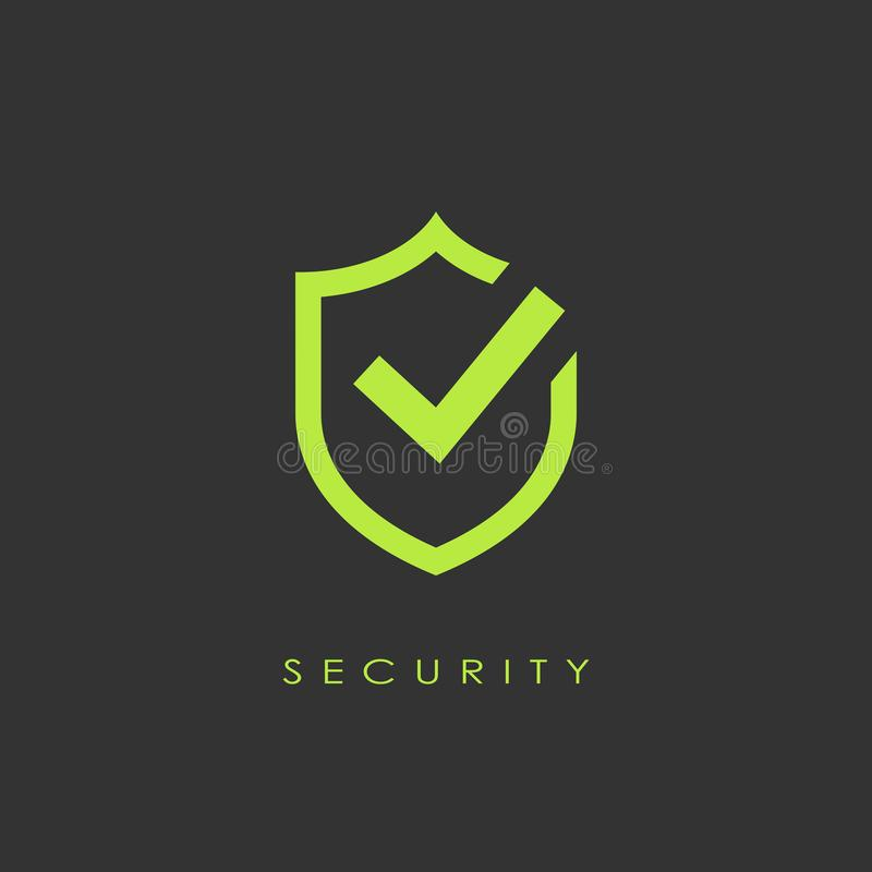 Approval security vector logo royalty free illustration