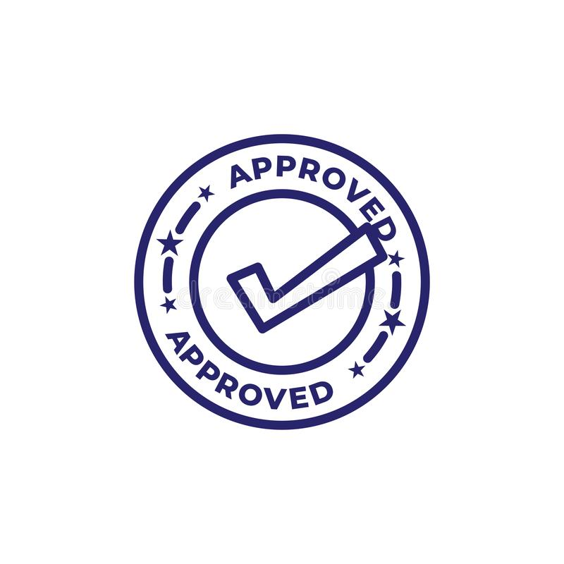 Approval and Signature Icon with approved imagery - to show someone who`s given the go ahead. Approval & Signature Icon with approved imagery - to show someone`s royalty free illustration