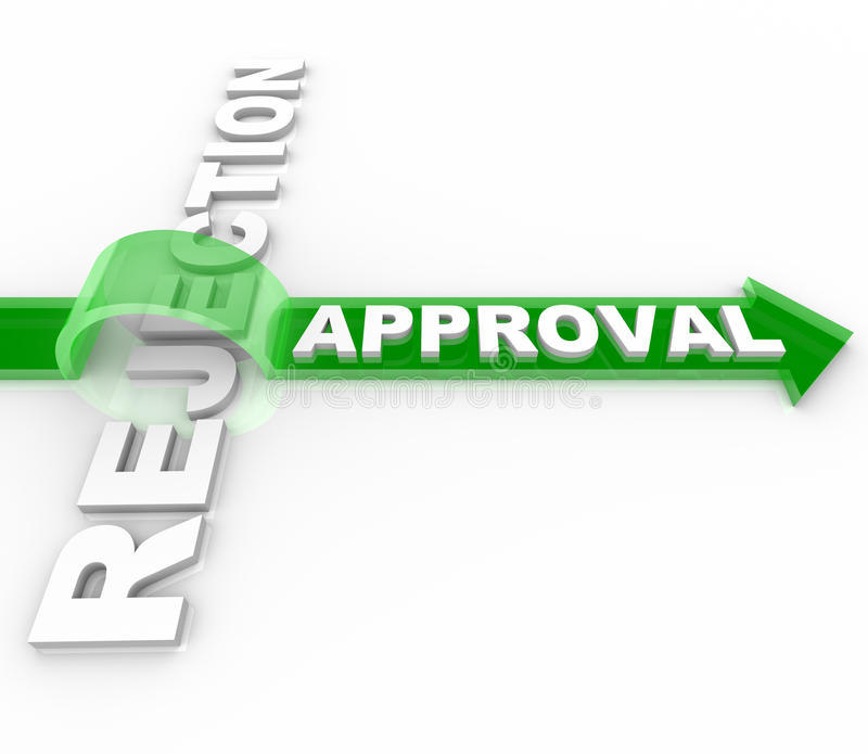 Download Approval Vs Rejection - Arrow Jumps Over Word Stock Illustration - Image: 18129067