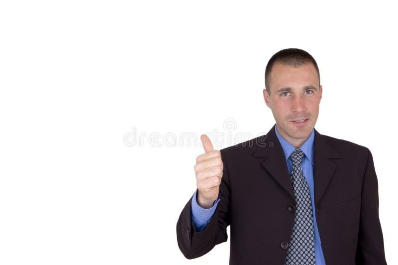 Approvazione dell'uomo di affari immagini stock