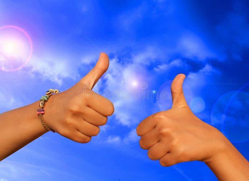 Approvazione di gesto fotografia stock libera da diritti