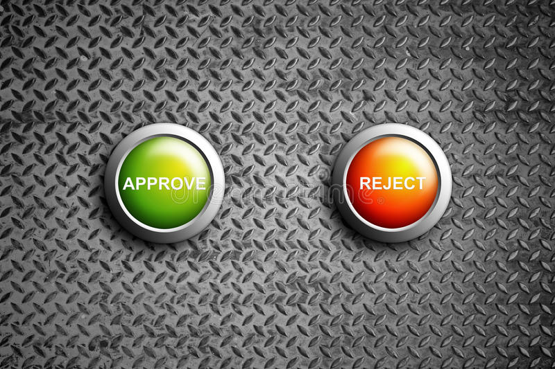 Download Approve and reject button stock illustration. Image of reject - 21979875