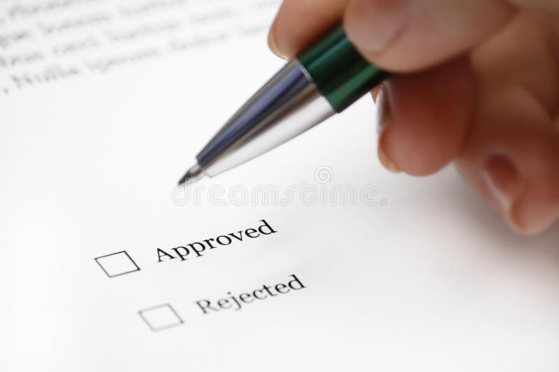 Approve or Rejected royalty free stock photos