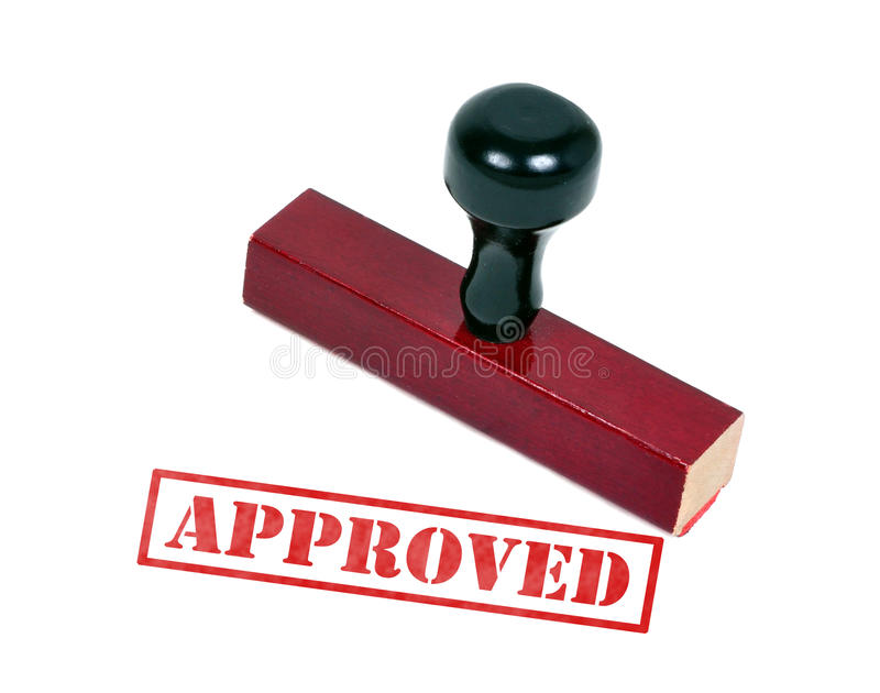 Approved. Rubber stamp with the word approved royalty free stock photos