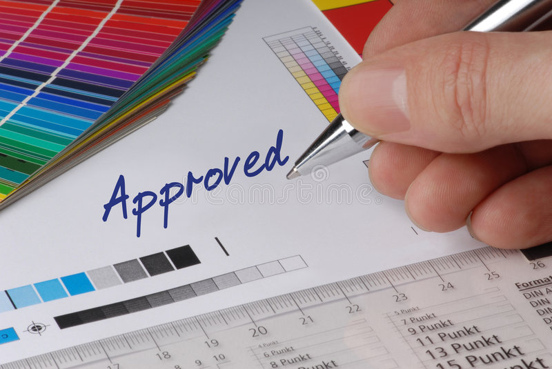 Download Approved stock photo. Image of proof, picture, design - 3069458