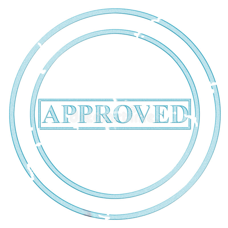 Approved stock illustration
