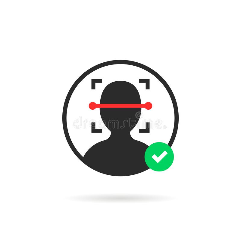 Simple Face Id Scanner Icon Stock Vector - Illustration of