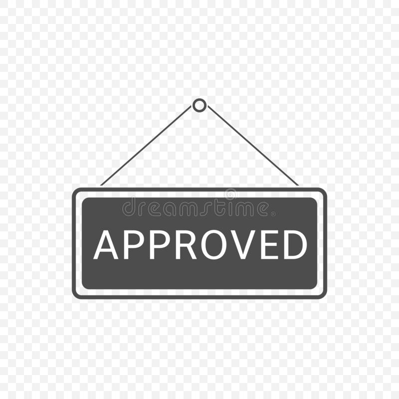 Approved Hanging sign royalty free illustration