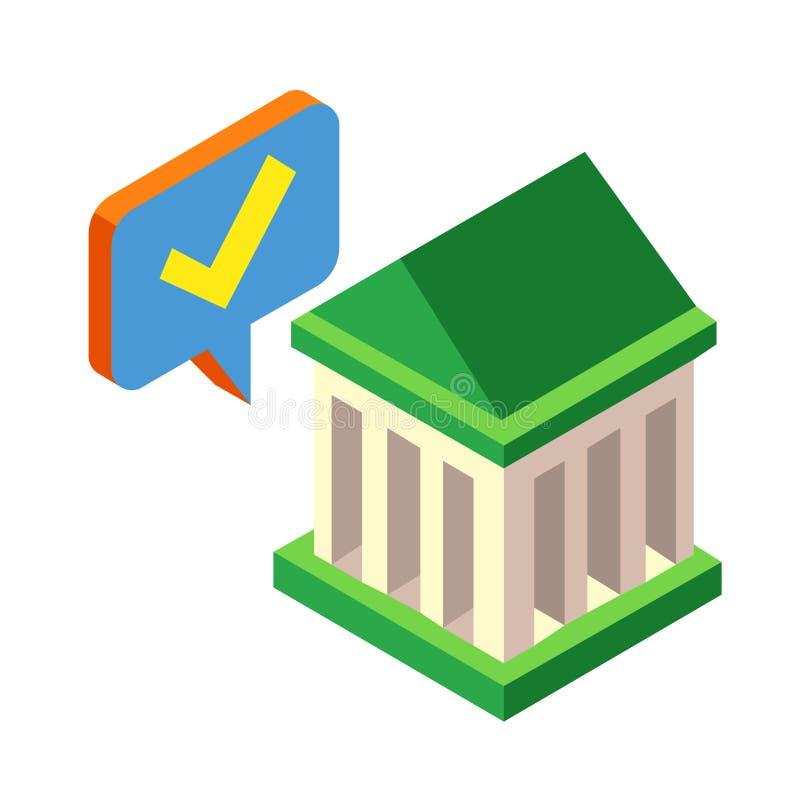 Approved loan Isometric illustration stock illustration