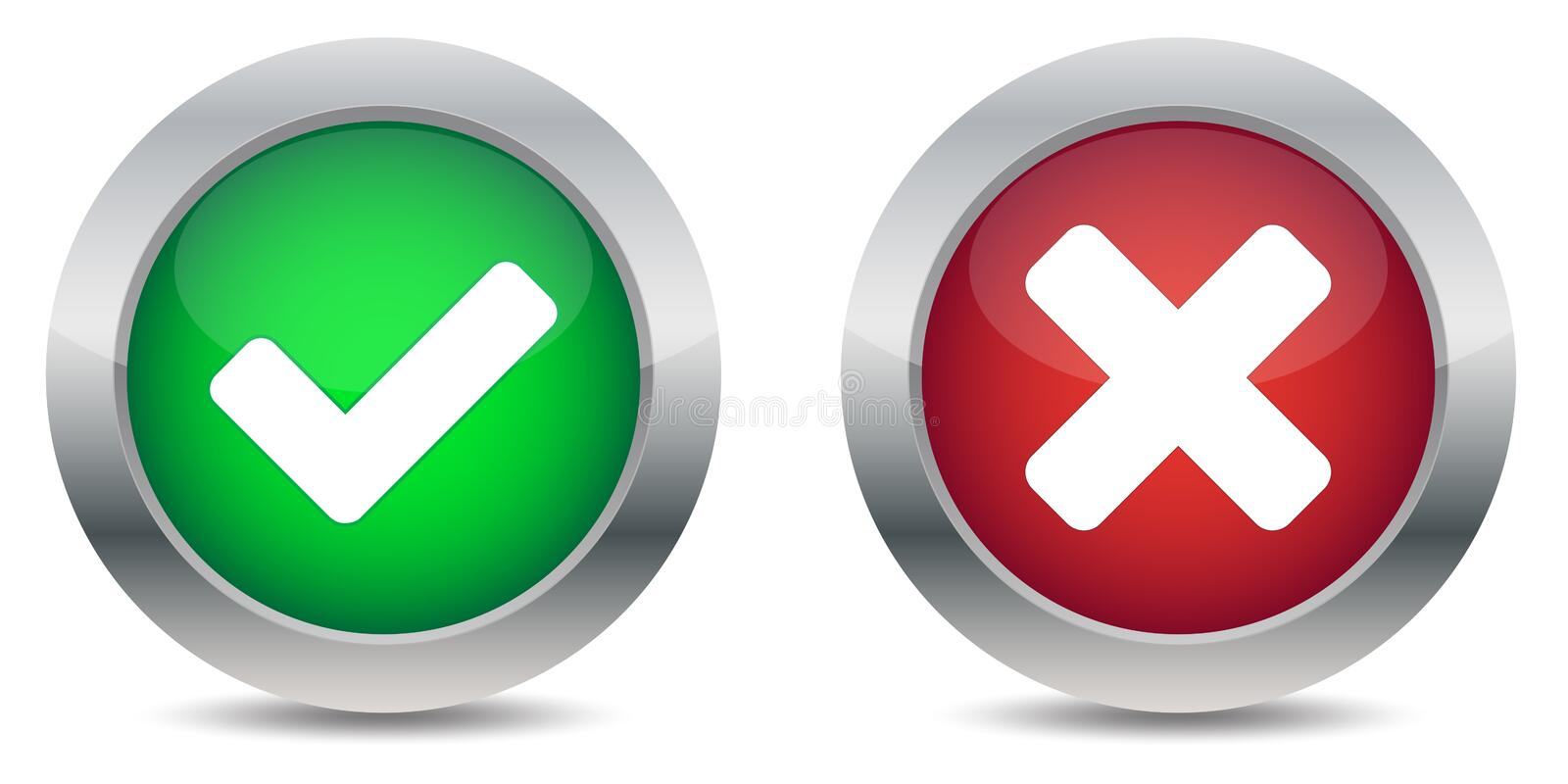 Download Approved And Rejected Buttons Royalty Free Stock Photography - Image: 23063937