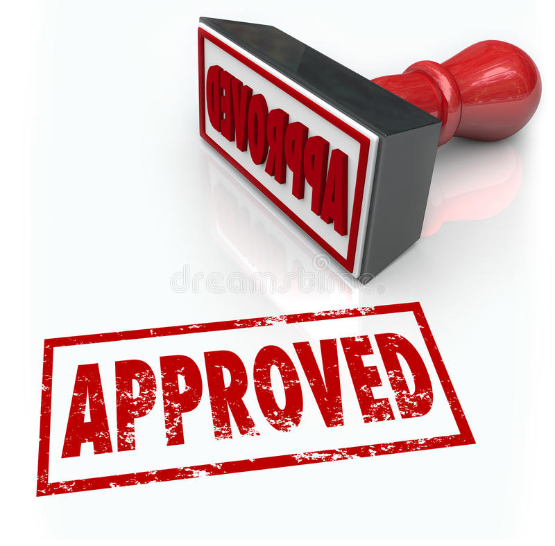 Approved Rubber Stamp Accepted Approval Result vector illustration