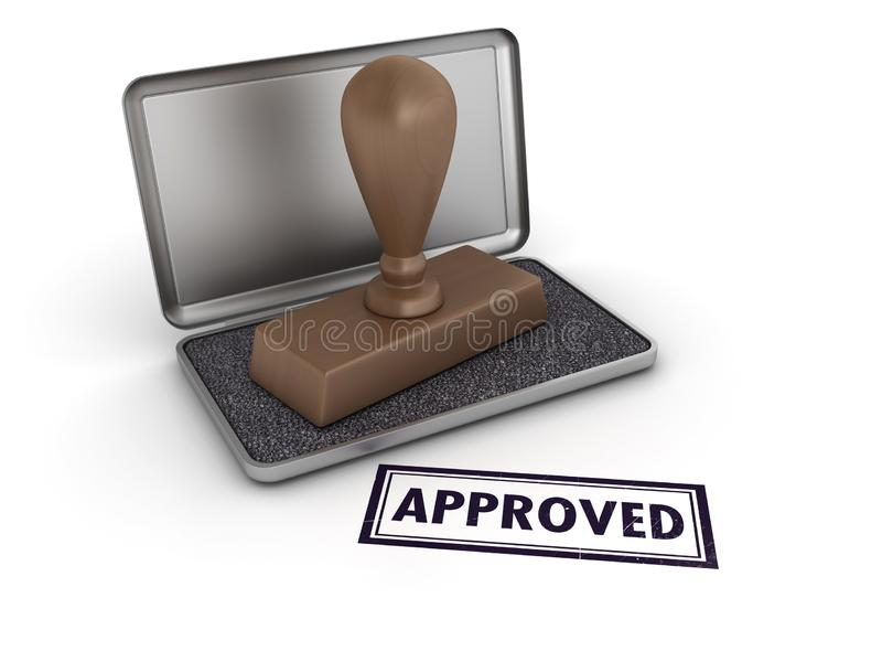 APPROVED Rubber Stamp stock illustration