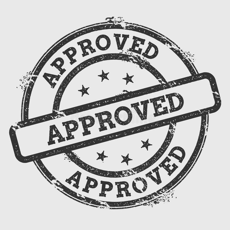 Approved rubber stamp isolated on white. royalty free illustration