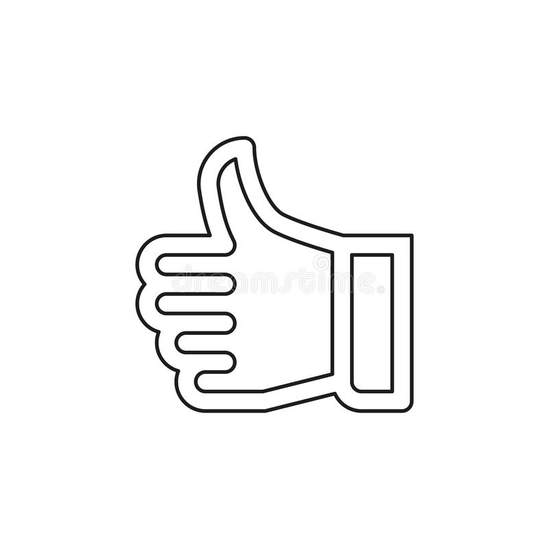 Approved sign - hand thumb up icon royalty free illustration