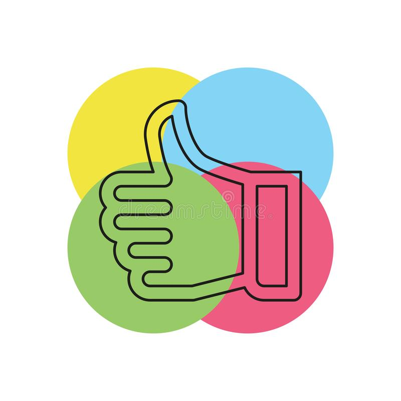 approved sign - hand thumb up icon vector illustration