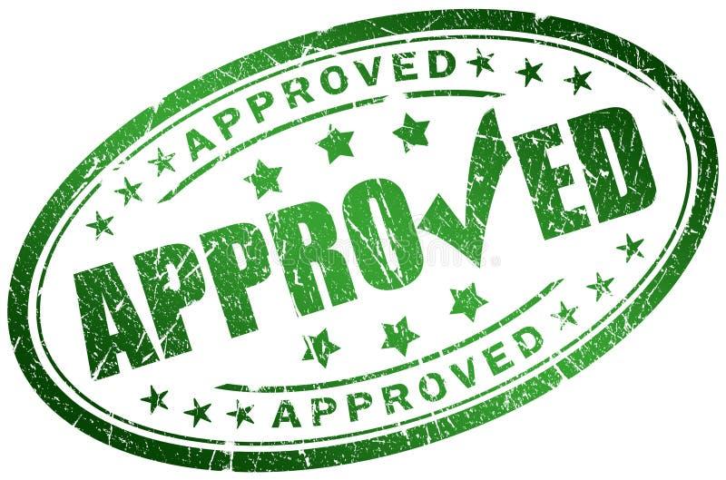 Download Approved stamp stock illustration. Image of assurance - 13315210