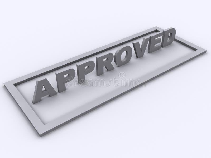 Approved stamp stock illustration