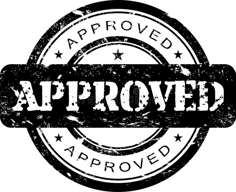 Approved stamp. Grunge styled rubber stamp approved