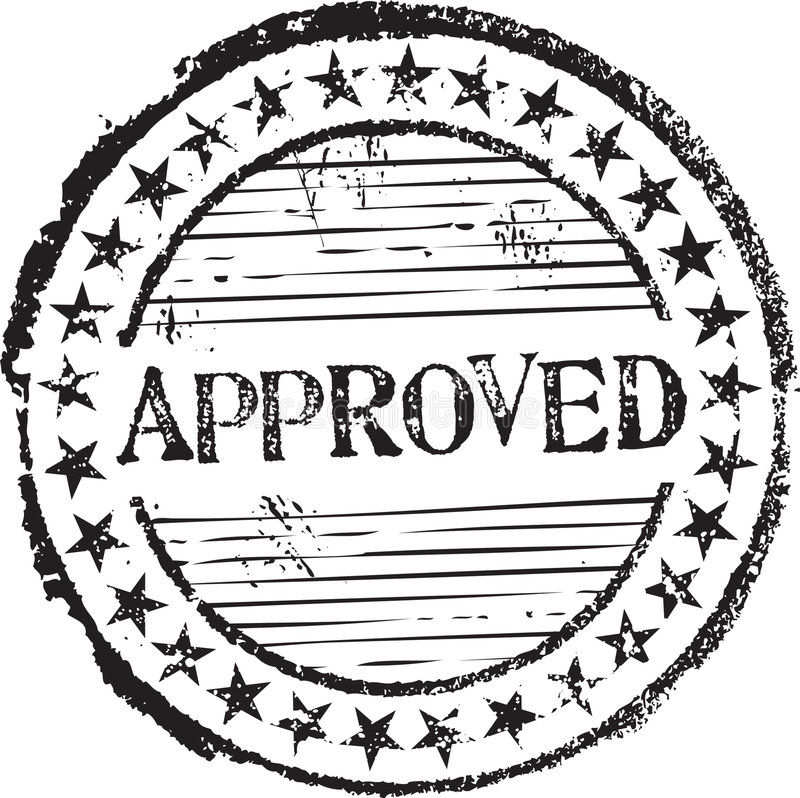 Download Approved stamp stock illustration. Image of agree, allow - 8805562