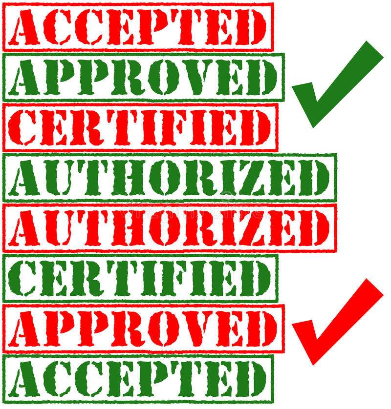 Download Approved Stamps stock illustration. Image of certify - 23716096