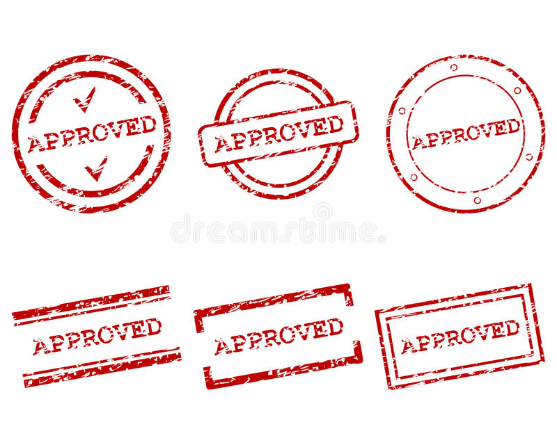 Download Approved stamps stock vector. Illustration of promotion - 27109052