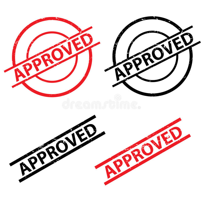 Approved stamps and seals vector illustration