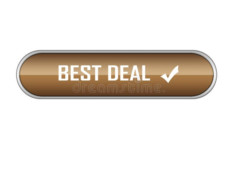 Different design best deal button element color web button. Approved web button best deal illustration Photoshop on isolated white background stock illustration