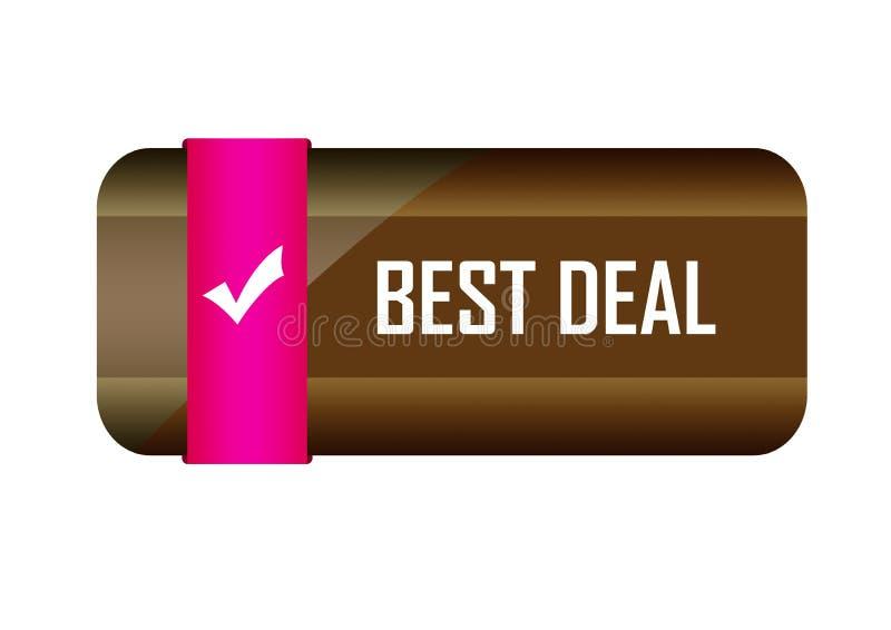 Different design best deal button element color web button. Approved web button best deal illustration Photoshop on white background vector illustration