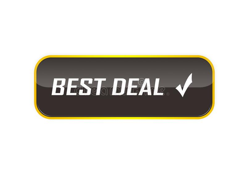 Different design best deal button element color web button. Approved web button best deal illustration Photoshop on white background royalty free illustration