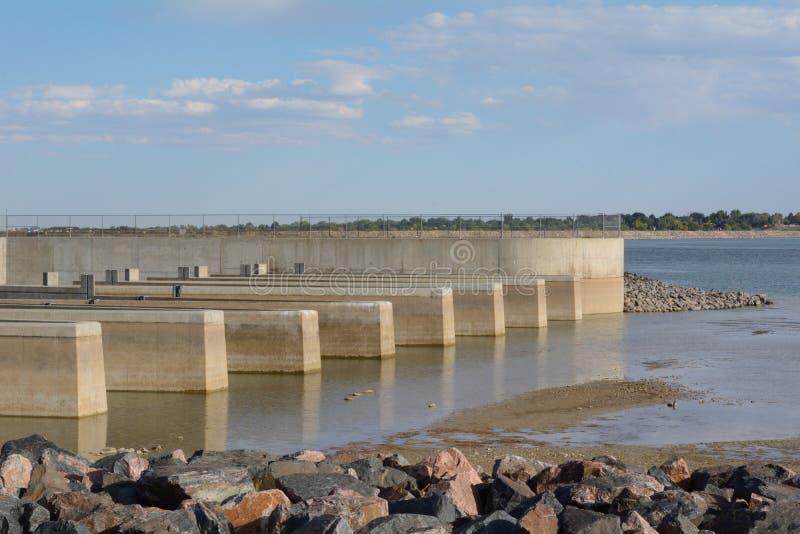 Approvisionnement en eau de ville du Colorado séchant de la sécheresse image stock