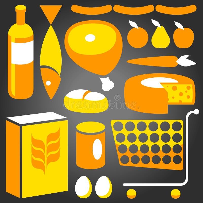 Approvisionnements alimentaires illustration de vecteur