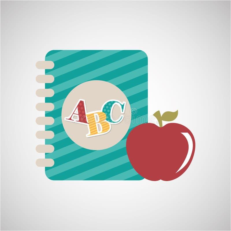 approvisionnements d'éducation de nouveau à l'école illustration de vecteur
