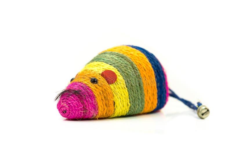 Approvisionnements d'animal familier au sujet de jouet coloré de souris pour des chats images libres de droits