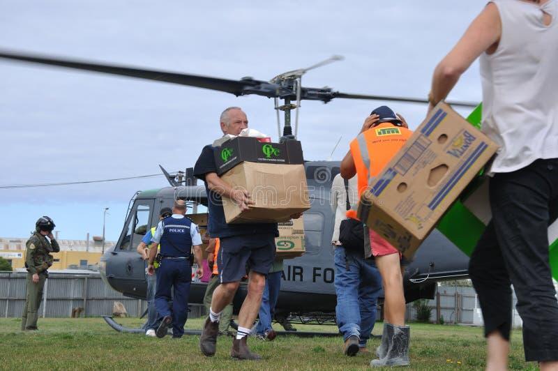 Approvisionnements d'hélicoptère photographie stock libre de droits