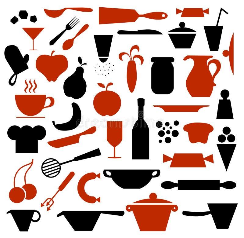 Approvisionnements de cuisine illustration libre de droits