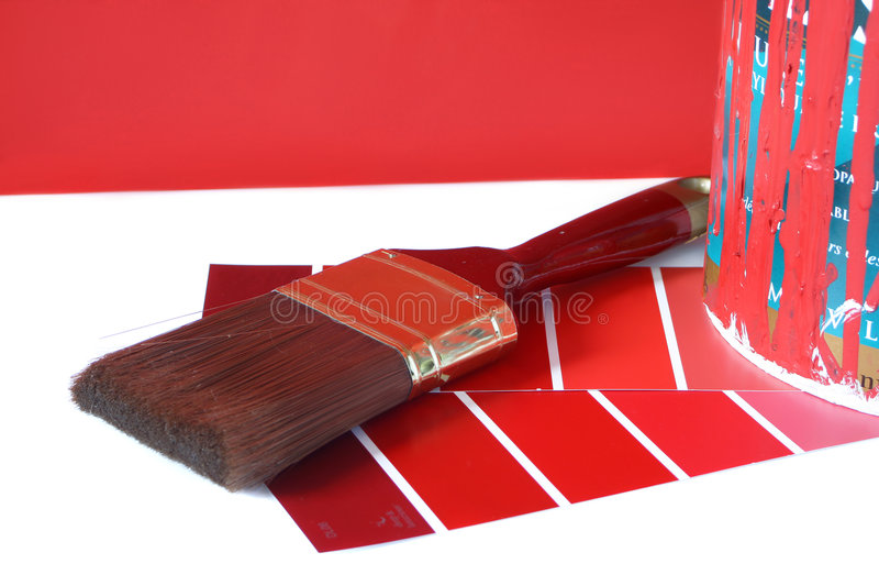 Approvisionnements de peinture photo libre de droits